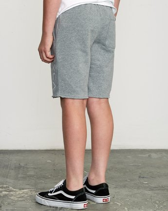 3 Boy's Ripper Fleece Sweatshort Grey B201URRI RVCA