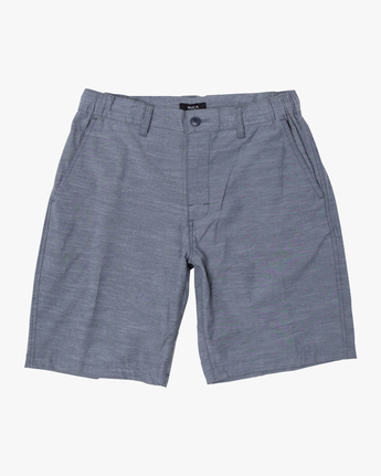 "0 BOYS ALL TIME COASTAL SOLID HYBRID 17"" SHORT Blue B206QRCO RVCA"