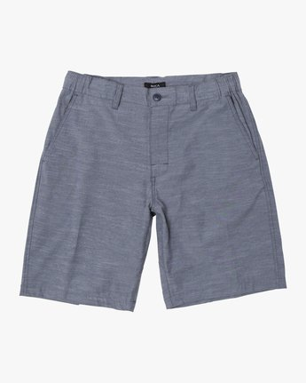 "1 BOYS ALL TIME COASTAL SOLID HYBRID 17"" SHORT Blue B206QRCO RVCA"