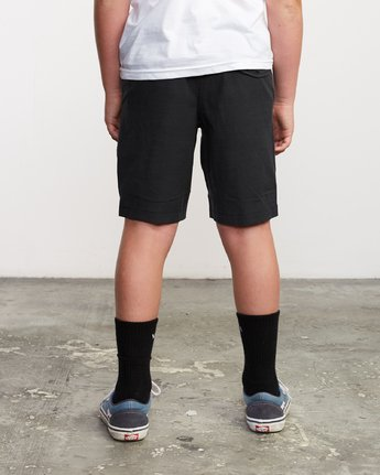 4 Boy's All Time Coastal Hybrid Short  Black B206QRCO RVCA