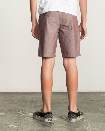 4 Boy's That'll Walk Oxford Short Red B210TRTW RVCA