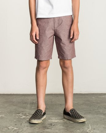 1 Boy's That'll Walk Oxford Short Red B210TRTW RVCA