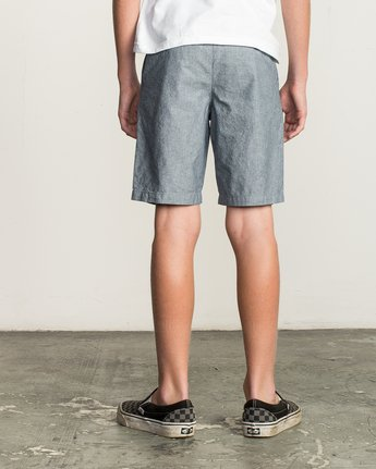 4 Boys That'll Walk Oxford Short Blue B210TRTW RVCA