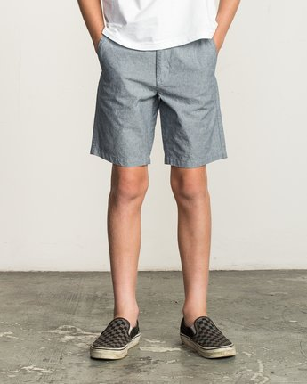 1 Boys That'll Walk Oxford Short Blue B210TRTW RVCA