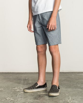 2 Boy's That'll Walk Oxford Short Blue B210TRTW RVCA