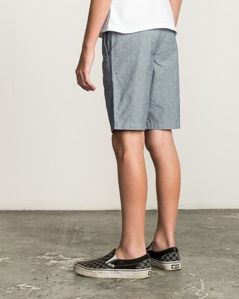 3 Boy's That'll Walk Oxford Short Blue B210TRTW RVCA