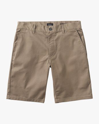 0 Boys Weekday Stretch Short Grey B240TRWD RVCA