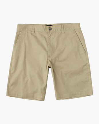 1 Boys Weekday Stretch Short Beige B240TRWD RVCA