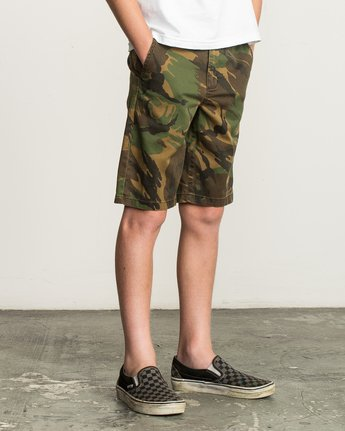 6 Boy's Weekday Stretch Short Camo B240TRWD RVCA