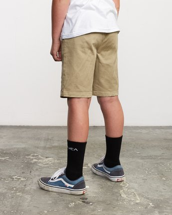 5 Boys Weekday Stretch Short Beige B240TRWD RVCA