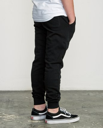 4 Boy's Ripper Sweatpant Black B301URRI RVCA