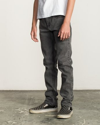 1 Boy's Daggers Denim Jeans Grey B302QRDA RVCA