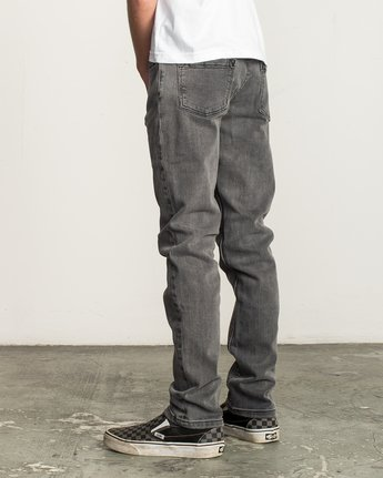 2 Boy's Daggers Denim Jeans Grey B302QRDA RVCA