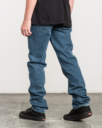 2 Boy's Daggers Denim Jeans Blue B303QRDA RVCA