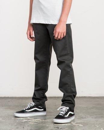 1 Boy's A.T. Dayshift Elastic Pant Black B310QRDS RVCA