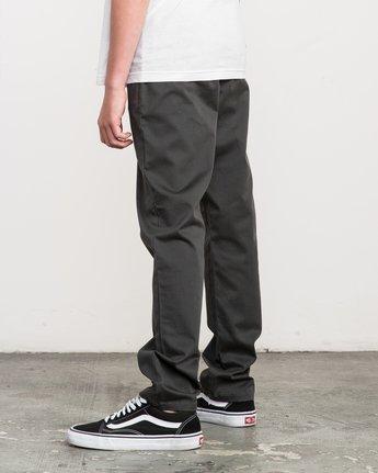 2 Boy's A.T. Dayshift Elastic Pant Black B310QRDS RVCA