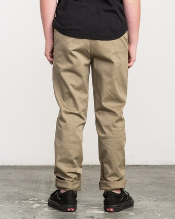 3 Boy's A.T. Dayshift Elastic Pant White B310QRDS RVCA