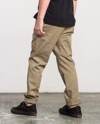 2 Boy's A.T. Dayshift Elastic Pant Beige B310QRDS RVCA