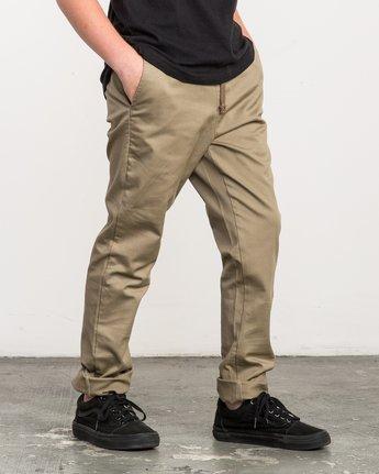 5 Boy's A.T. Dayshift Elastic Pant White B310QRDS RVCA