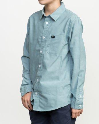 2 Boy's That'll Do Oxford Long Sleeve Shirt Blue B3506TDL RVCA