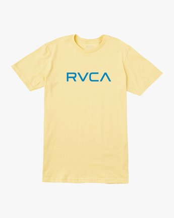 0 Boy's Big RVCA T-Shirt Yellow B401SRBI RVCA