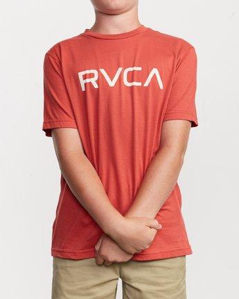 1 Boy's Big RVCA T-Shirt Green B401SRBI RVCA