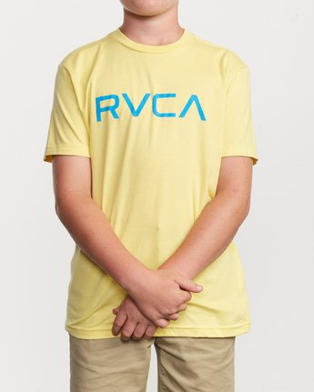 1 Boy's Big RVCA T-Shirt Yellow B401SRBI RVCA
