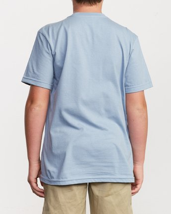 3 Boy's Big RVCA T-Shirt Blue B401SRBI RVCA