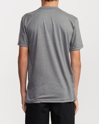 3 Boy's Big RVCA T-Shirt Grey B401SRBI RVCA