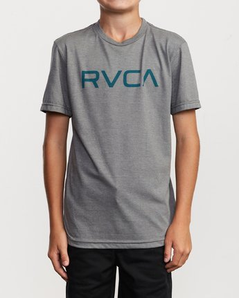 1 Boy's Big RVCA T-Shirt Grey B401SRBI RVCA