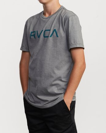 2 Boy's Big RVCA T-Shirt Grey B401SRBI RVCA