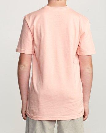 2 Boy's Blinded T-Shirt Orange B401TRBL RVCA