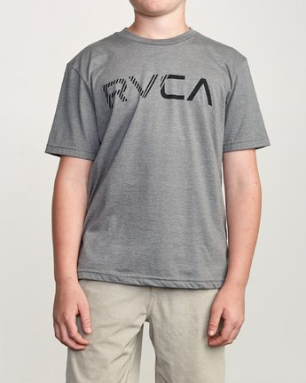 1 Boy's Blinded T-Shirt Grey B401TRBL RVCA