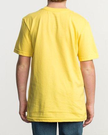 3 Boy's Blinded T-Shirt Yellow B401TRBL RVCA