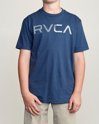 1 Boy's Blinded T-Shirt Blue B401TRBL RVCA