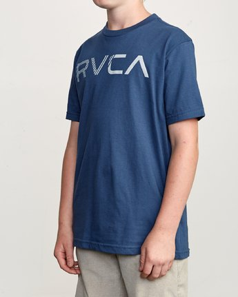 2 Boy's Blinded T-Shirt Blue B401TRBL RVCA