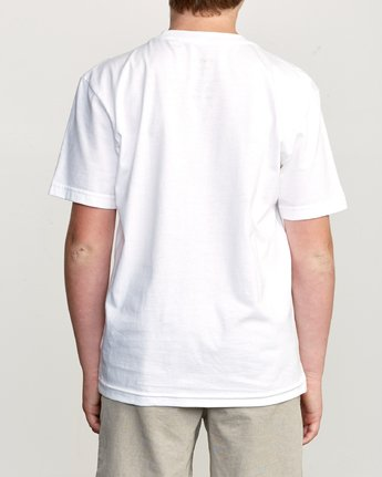 3 Boy's Blinded T-Shirt White B401TRBL RVCA