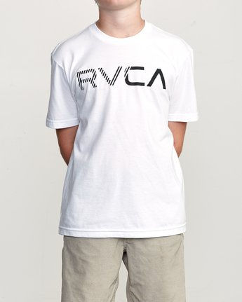 1 Boy's Blinded T-Shirt White B401TRBL RVCA