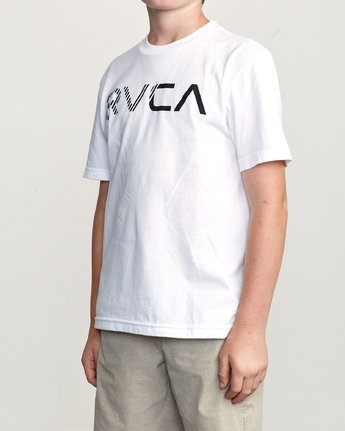 2 Boy's Blinded T-Shirt White B401TRBL RVCA
