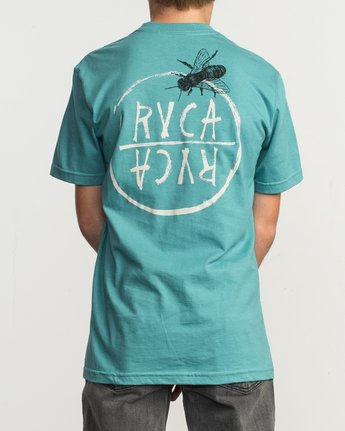 4 Boy's Horton Hivemind T-Shirt Blue B401TRHI RVCA