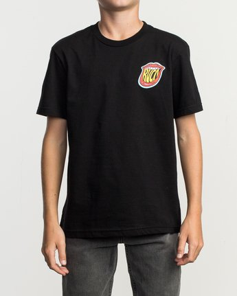 2 Boy's Dmote Jetty Lips T-Shirt  B401TRJE RVCA