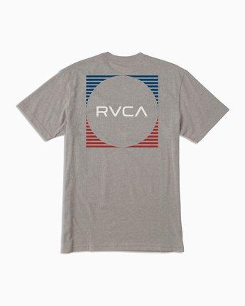 0 Boy's Motorstripe T-Shirt Grey B401TRMS RVCA