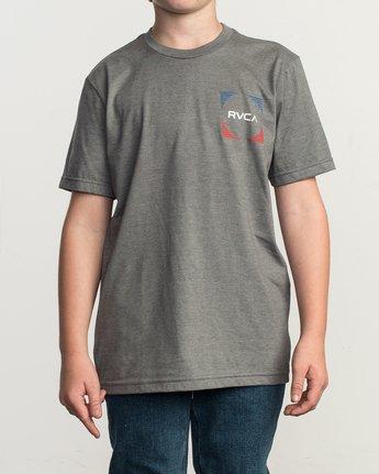 2 Boy's Motorstripe T-Shirt Grey B401TRMS RVCA