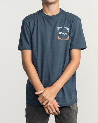 2 Boy's Motorstripe T-Shirt Blue B401TRMS RVCA