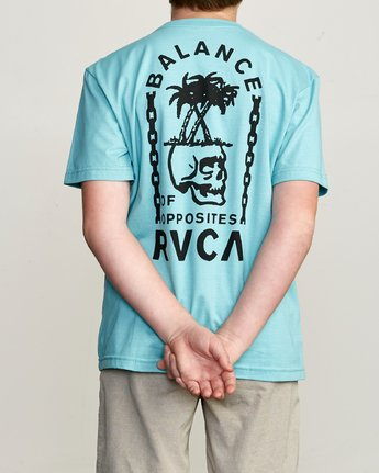 4 Boy's Bad Palms T-Shirt Blue B401URBA RVCA