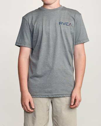 2 Boy's Blind Motors T-Shirt Grey B401URBM RVCA