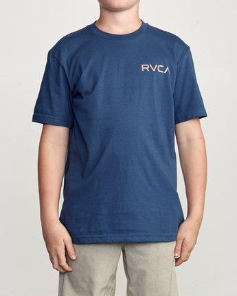 2 Boy's Blind Motors T-Shirt Blue B401URBM RVCA