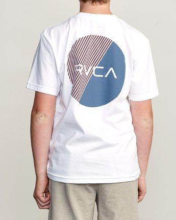 4 Boy's Blind Motors T-Shirt White B401URBM RVCA