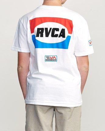 4 Boy's Daytona T-Shirt White B401URDA RVCA