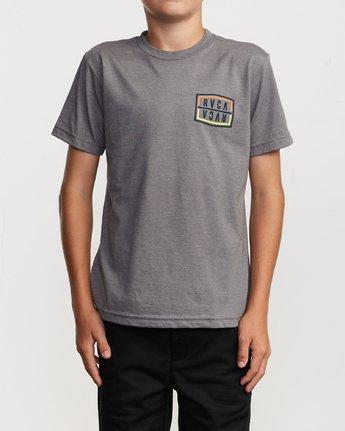 2 Boy's Flip Corpo T-Shirt Grey B401URFL RVCA